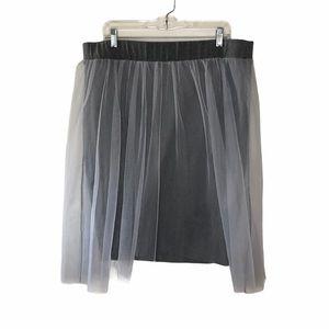 Torrid Gray Mesh Midi Skirt 2X